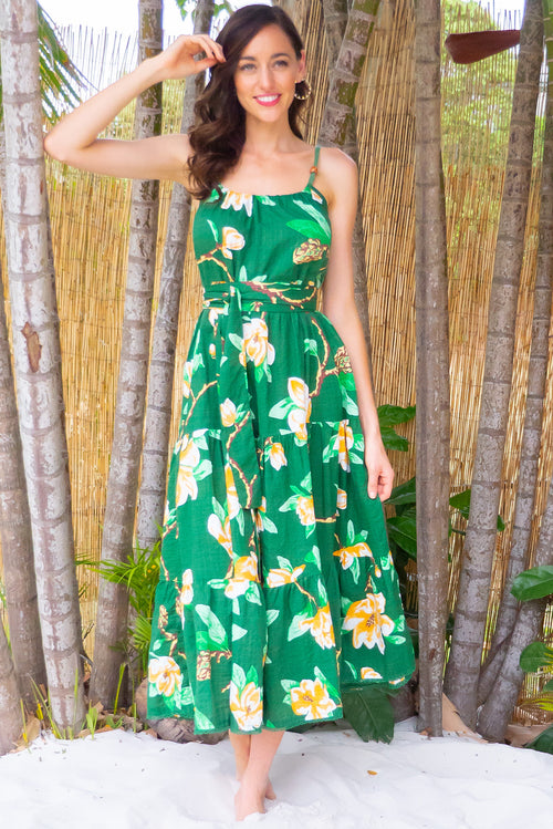Lulu Loves Rainforest Green Maxi Dress