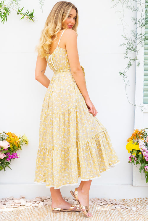 Lulu Loves Snowdrop Sunshine Maxi Dress