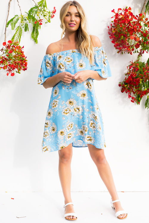 Macarena Cool Blues Dress