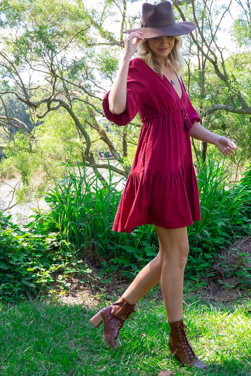 Mariette Red Earth Dress
