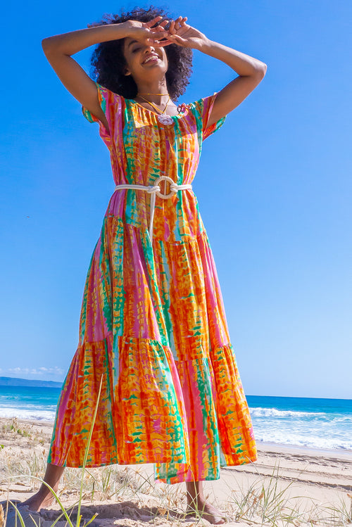 Marina Sunset Tie Dye Maxi Dress