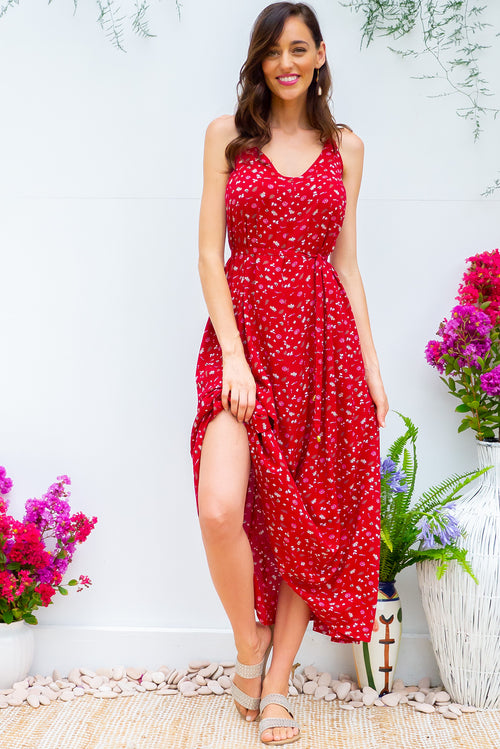 Meilani Cool Red Maxi Dress