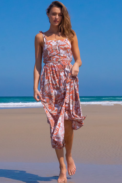 Midsummer Terracotta Siesta Dress