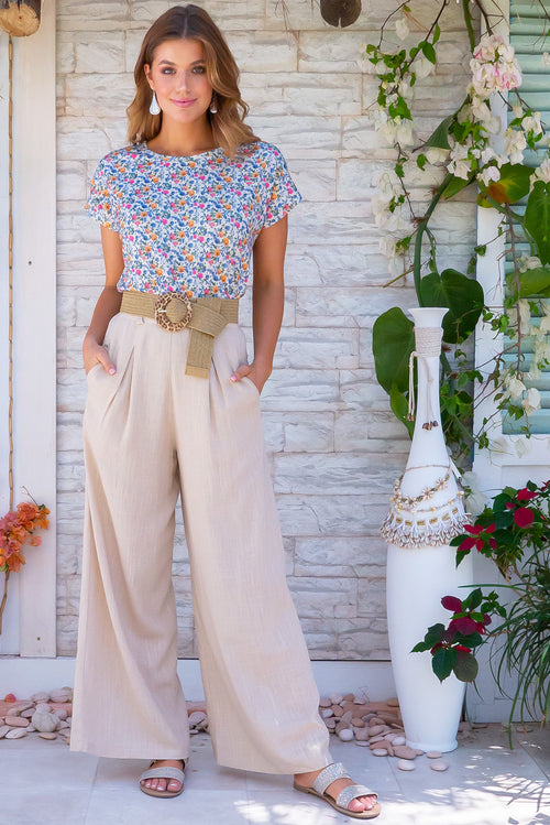 Mika Cornsilk Cream Pants