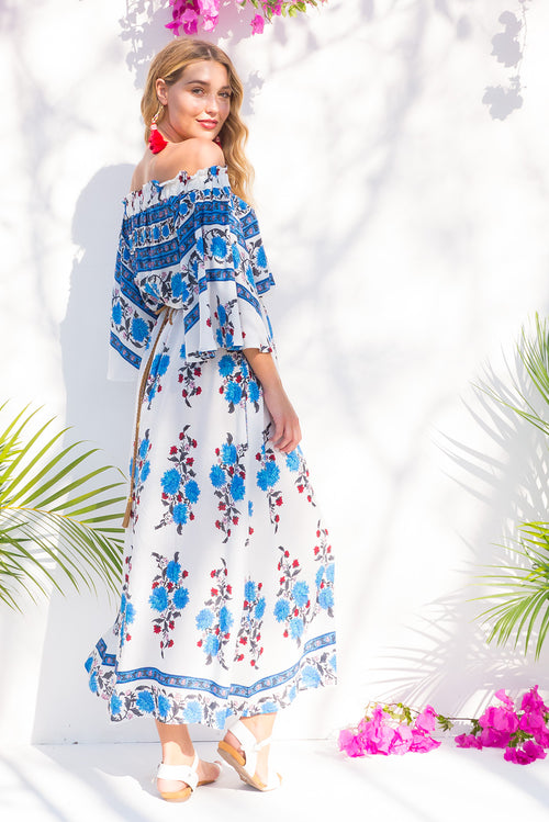 Mimosa Gypsy White Maxi Dress