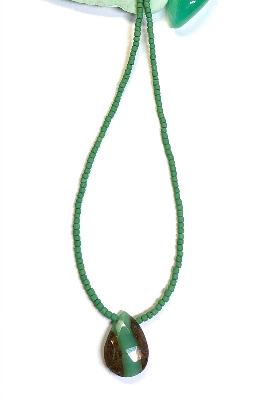 Necklace Cay Chrysoprase Pendant