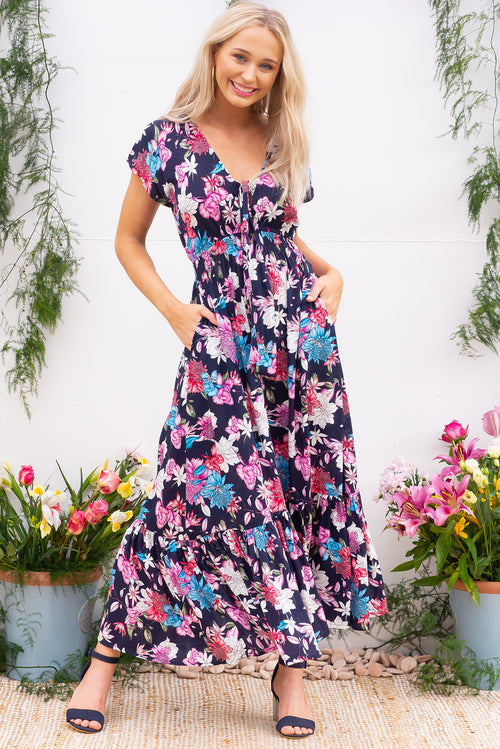Nellie Arbour Ink Maxi Dress Restocked