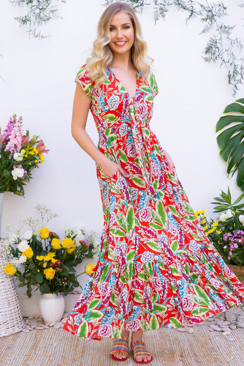 Nellie Parrot Maxi Dress