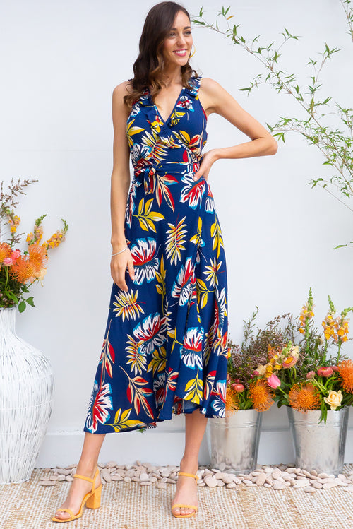 Pablo Inky Jungle Wrap Dress
