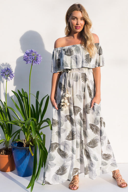 Pachanga Ferny Grove White Maxi Dress