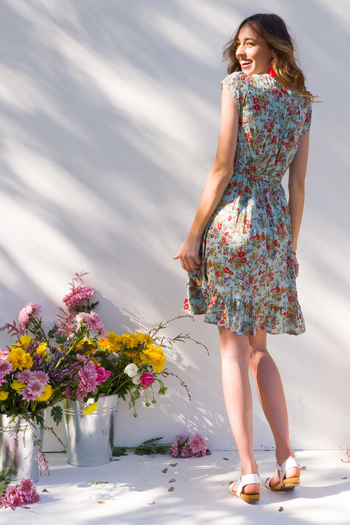 Paradise Beautiful Morning Wrap Dress