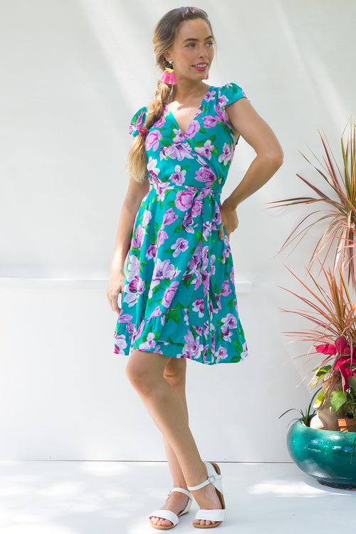 Paradise Amity Green Wrap Dress