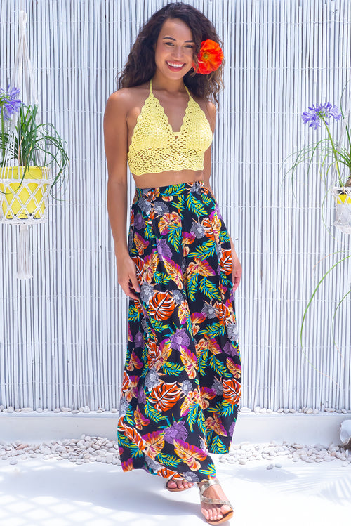 Parakeet Jungle Flowers Pants