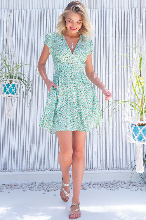 Peggy Mint Daisy Dress