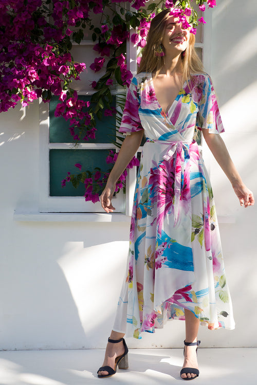 Petal Art Studio Maxi Wrap Dress