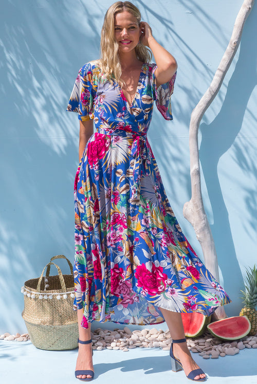 Petal Bluebird Maxi Wrap Dress