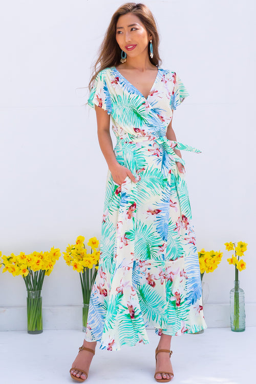 Phinda Pacific Maxi Wrap Dress
