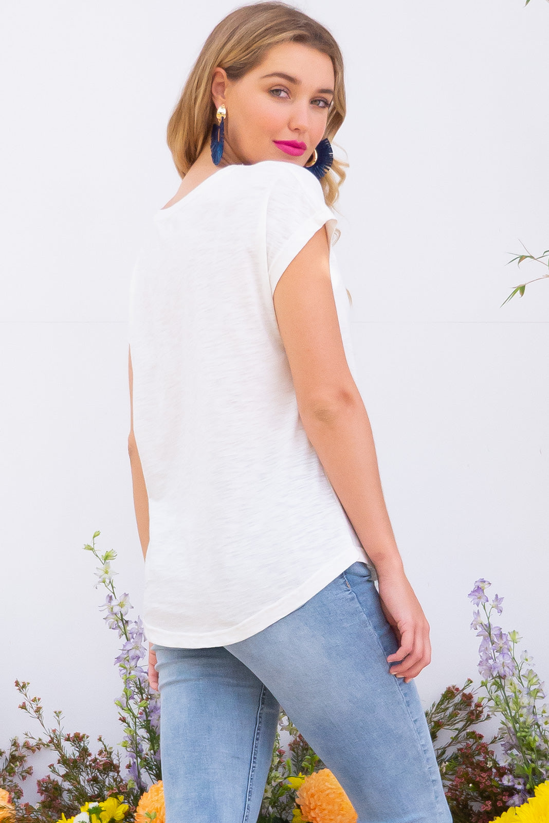 Phoenix Pearl White short sleeve tshirt has a relaxed fit and is made of soft cotton polyester fabric in a warm classic white