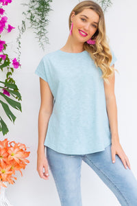 Phoenix Sky Blue short sleeve tshirt has a relaxed fit and is made of soft cotton polyester fabric in a warm sky blue colour