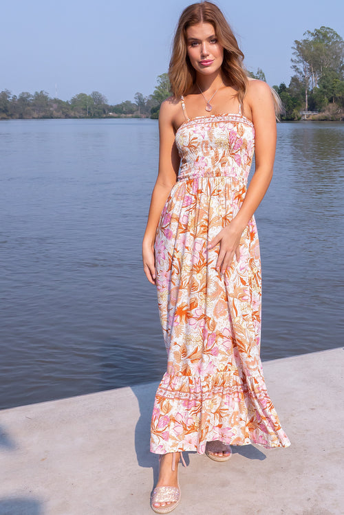Poetry Chateau Pink Maxi Dress