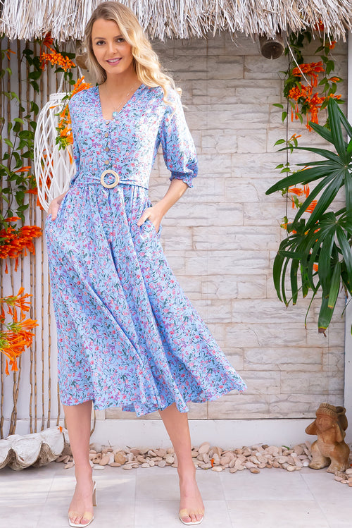 Primrose Cornflower Blue Dress