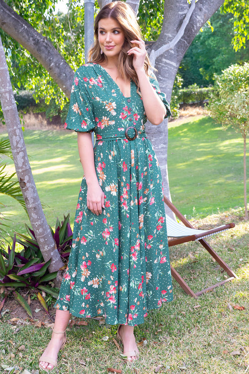Primrose Summer Green Dress