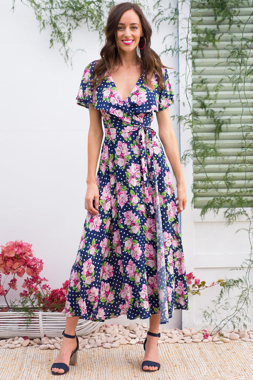 Rio Rita Sweet Spot Maxi Wrap Dress