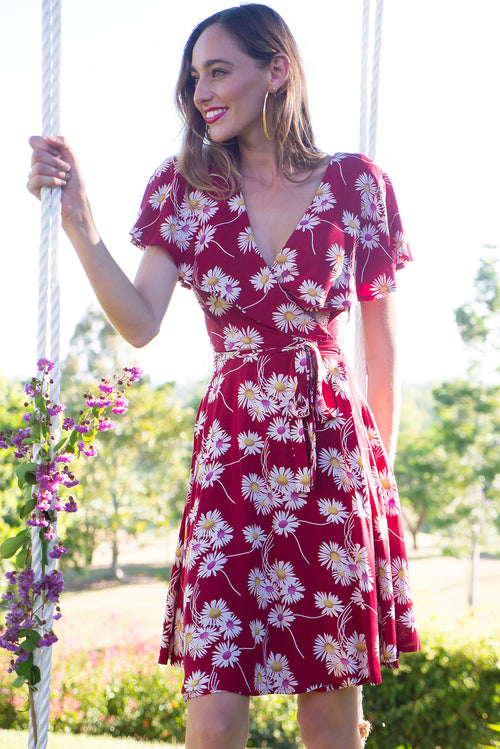 Rio Rita Daisy Red Wrap Dress