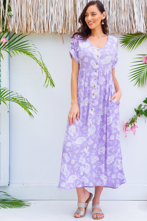 Rocco Lavender Love Maxi Dress