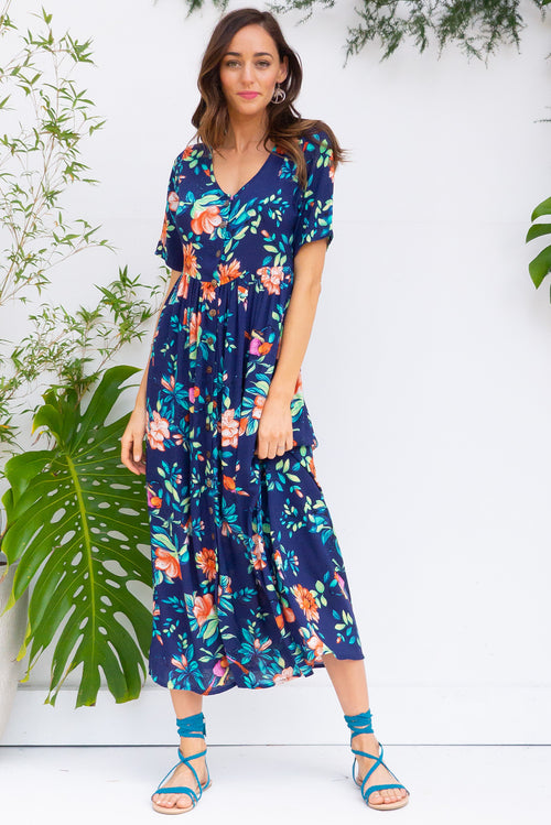 Rocco Navy Bird Dress