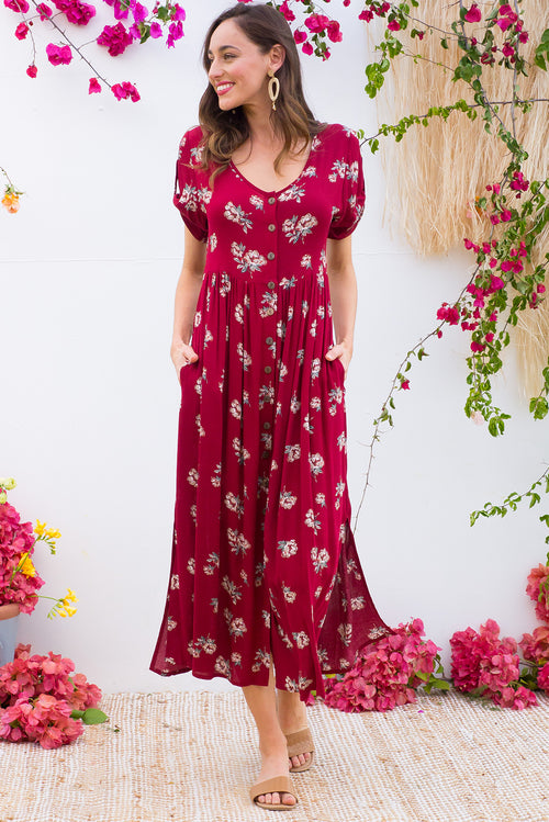 Rocco Pinot Red Maxi Dress