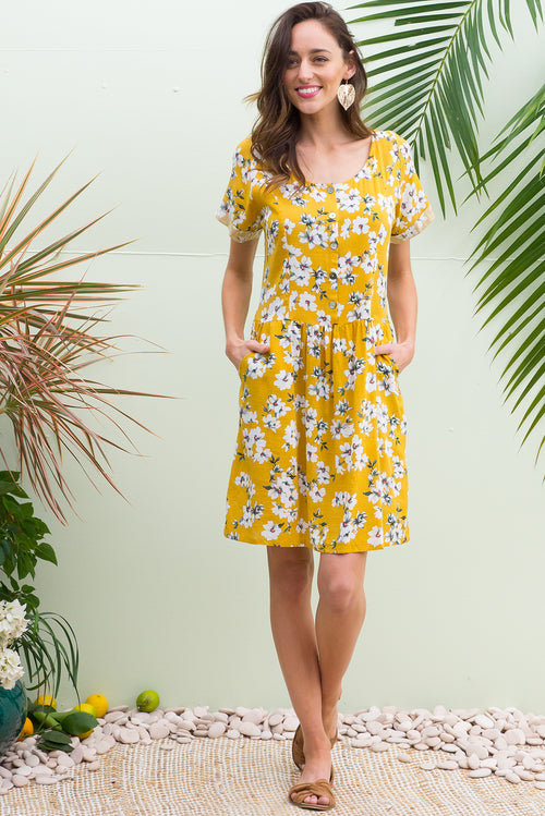 Rosella Helios Yellow Dress
