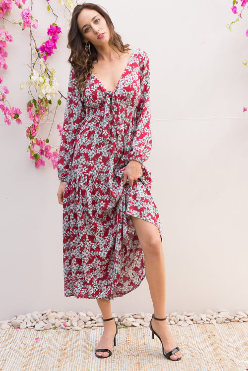 Ruby Redcurrant Maxi Dress