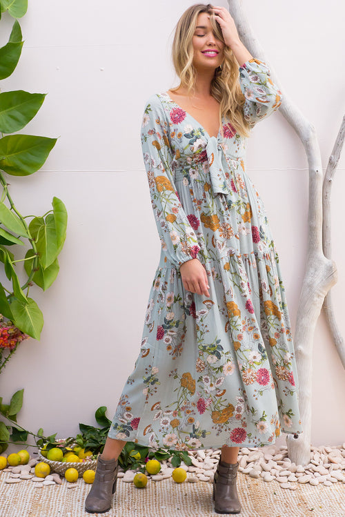 Ruby Sage Green Maxi Dress
