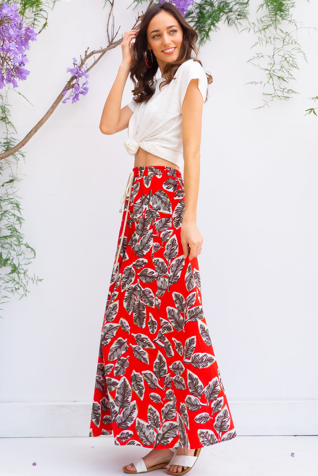 Sahara Namibia Red Maxi Skirt