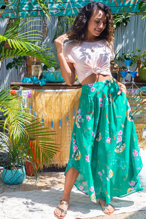 Sails Green Tea Maxi Skirt