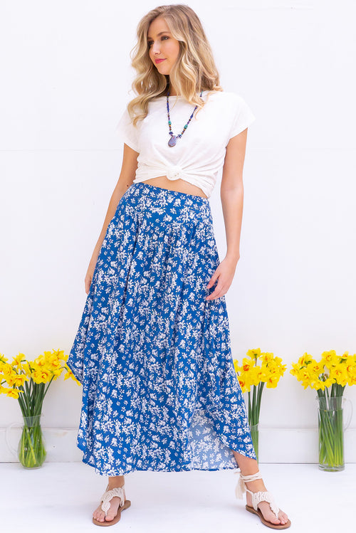 Sails Blue Brook Maxi Skirt