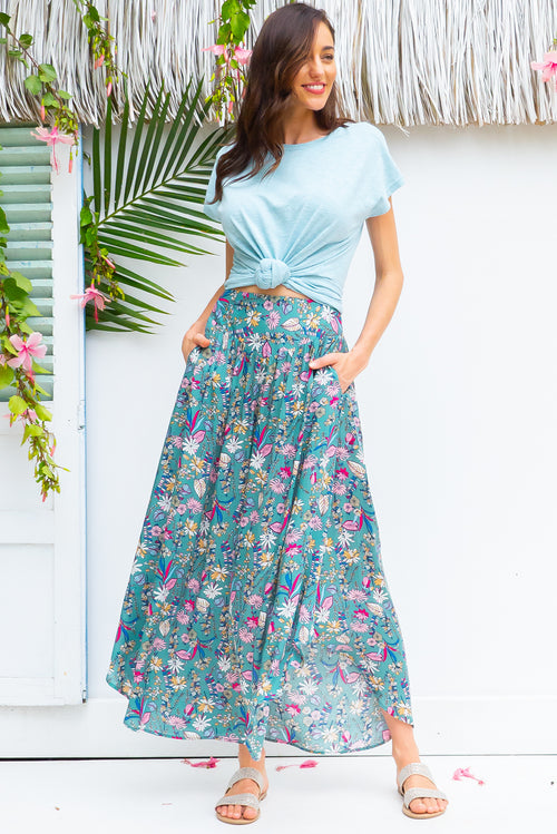 Sails Palma Green Maxi Skirt