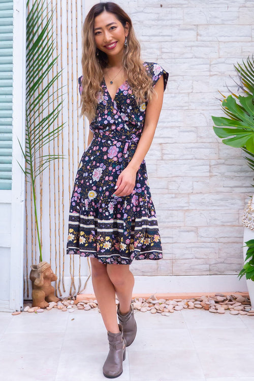 Sea Breeze Nantucket Ink Wrap Dress