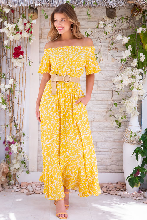 Surf Mist Sunshine Tipsy Maxi Dress