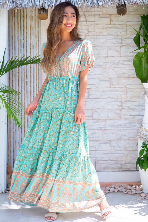 Tildie Celadon Maxi Dress