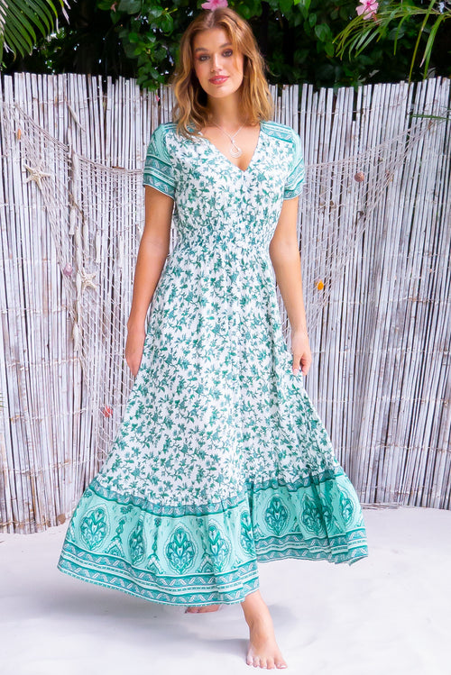 Twilla Fern Green Maxi Dress