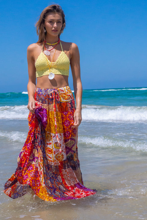 Valencia Golden Hour Maxi Skirt