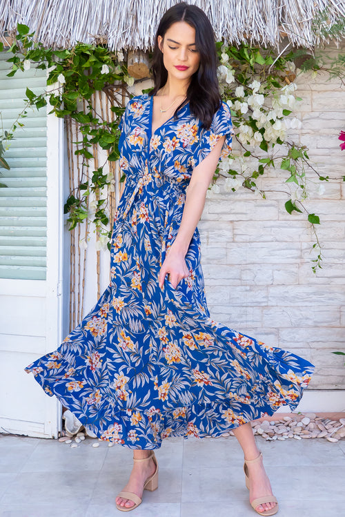 Willow Blue Bula Maxi Dress
