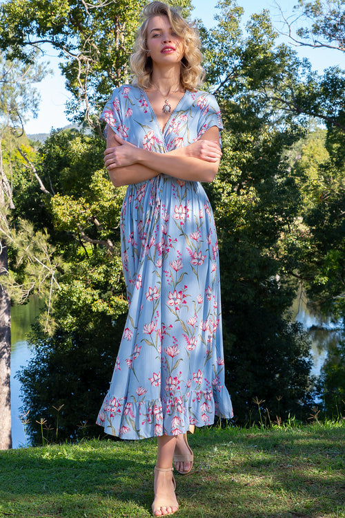 Willow Misty Blue Maxi Dress