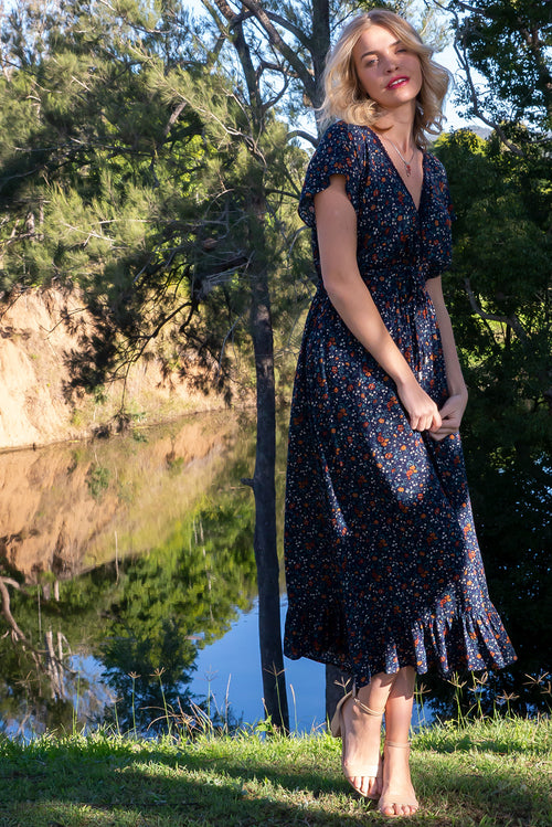 Willow Brae Navy Maxi Dress