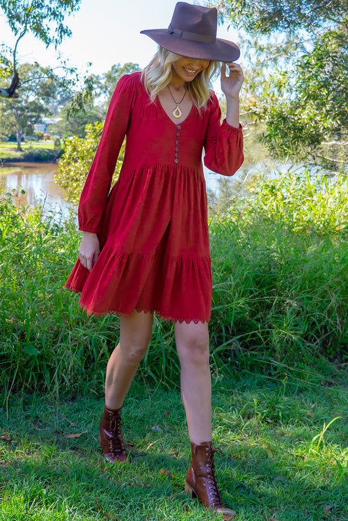Woodrose Crimson Hearth Dress
