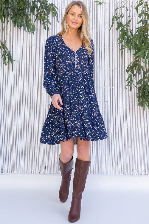 Woodrose Petit Navy Pointe Dress
