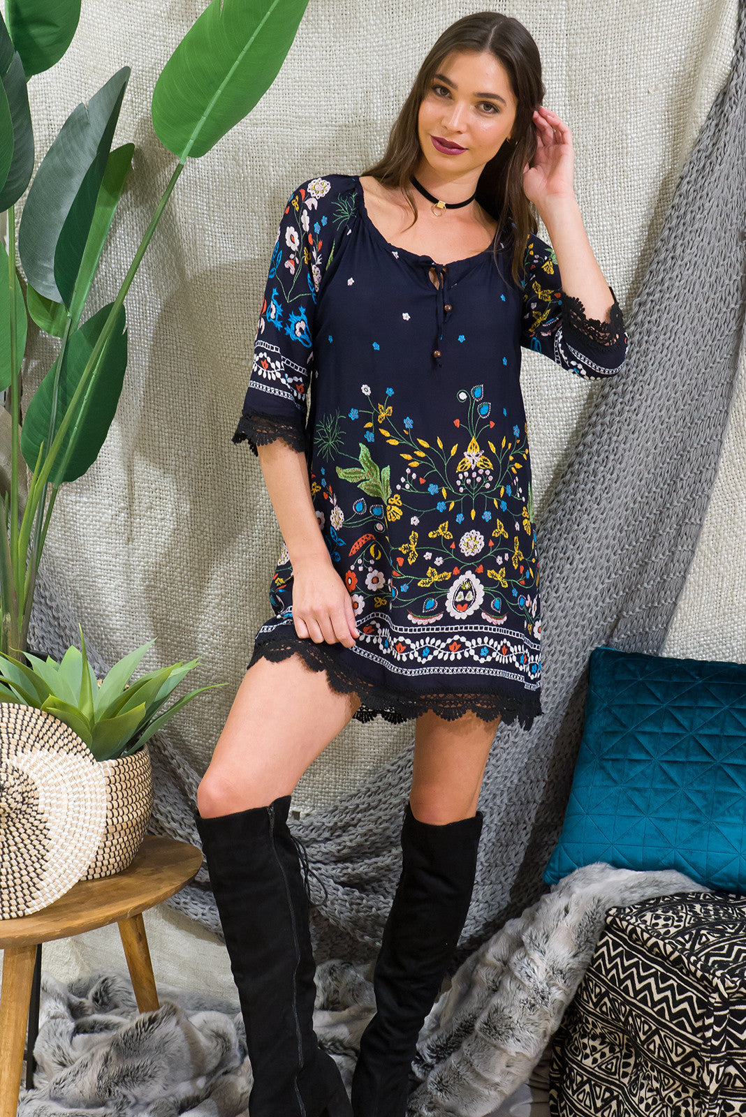 Angie Folklore Tunic Dress