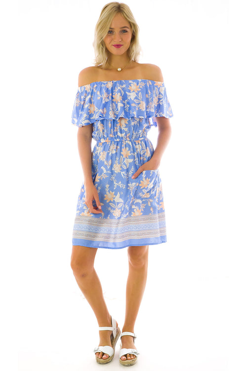 Apple Cider Dress in Ice Blue